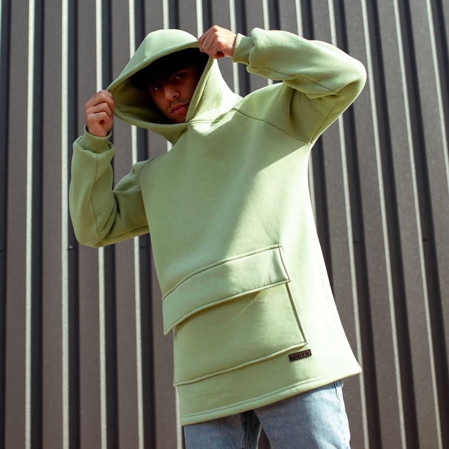 Худи South basic fleece mint oversize  - фото 2