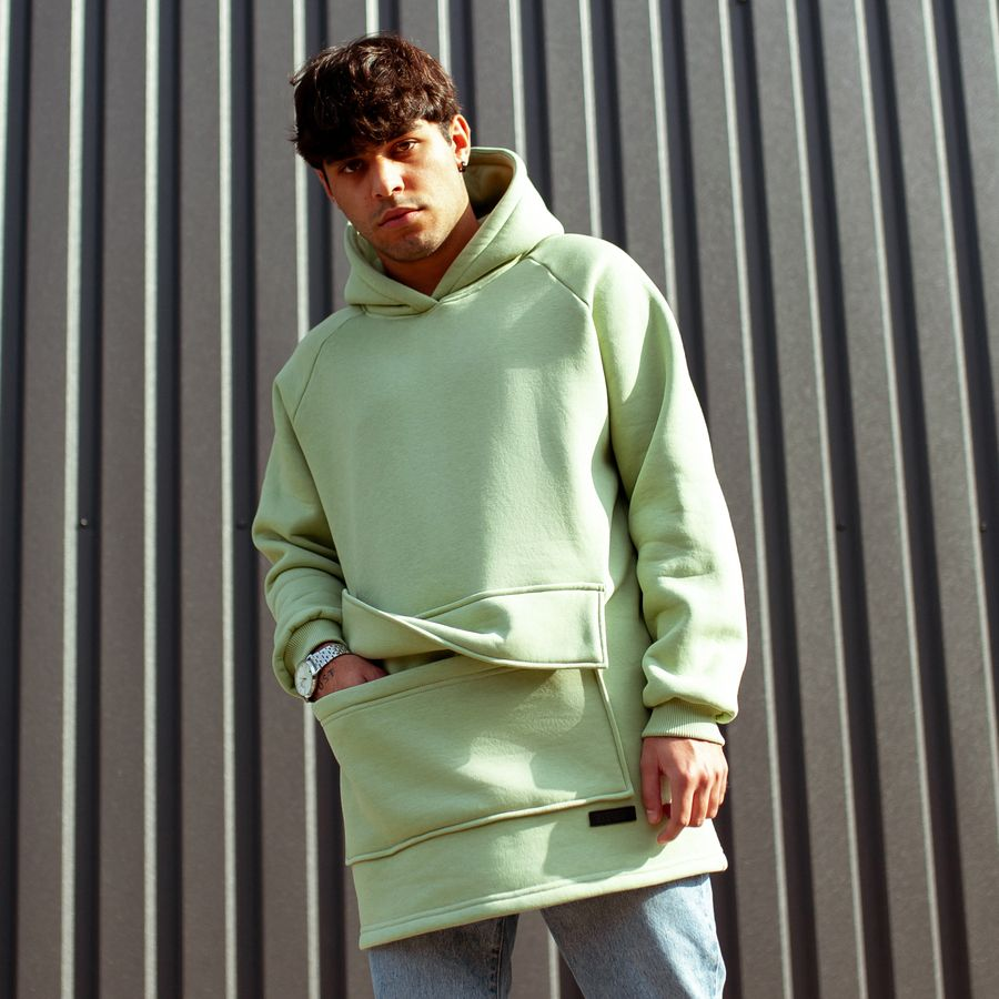 Худи South basic fleece mint oversize