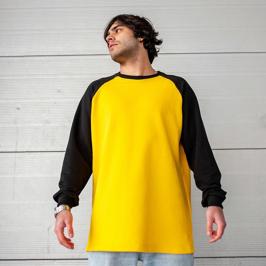 Свитшот South Oversize yellow\black  (без манжета) - фото 2